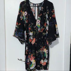 asos floral kimono dress